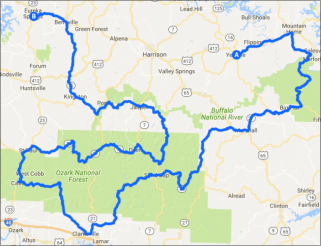 Whole Hog Motorcycle Ride Map