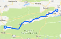 Mt. Magazine Byway Map